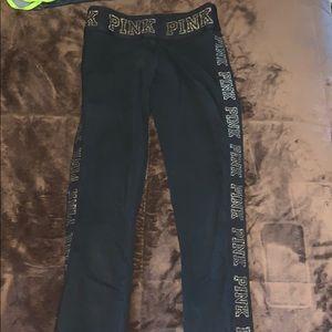 Black legging with glitter